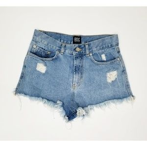 BDG Urban outfitters distressed raw hem jean short